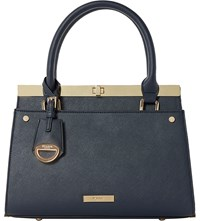 Dune Dusty Frame Detail Tote Bag Navy Synthetic
