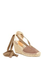 Diane Von Furstenberg Marcelle Lace Up Espadrille Wedge White