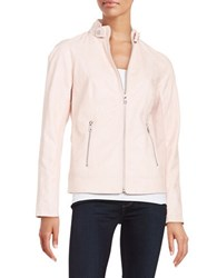 Sam Edelman Faux Leather Moto Jacket Dusty Rose