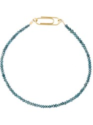 Uzerai Edits String Diamond Bracelet Blue