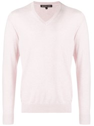 Michael Kors Collection Knitted Jumper Pink And Purple