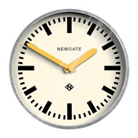 Newgate The Luggage Galvanised Wall Clock Yellow Hands