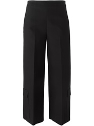 Msgm Patch Pocket Cropped Trousers Black