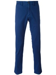 Moncler Classic Chino Trousers Blue