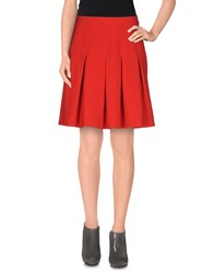 Diane Von Furstenberg Skirts Knee Length Skirts Women Red