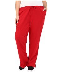 Jockey Plus Size Front Drawstring Pants Red Women's Casual Pants