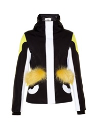 Fendi Bag Bugs Fur Trim Panelled Ski Jacket