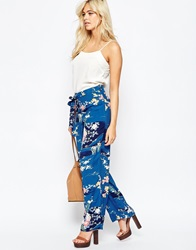 Oasis Floral Printed Palazzo Trouser Multi