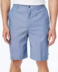 Geoffrey Beene Men's Classic Fit Chambray Shorts Niagra Blue