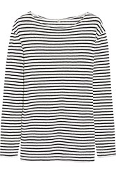 R 13 Striped Cotton Jersey Top