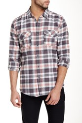 Micros Menlo Long Sleeve Plaid Shirt Gray