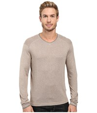 Agave Alma Long Sleeve Supima Modal Fine Gauge Fungi Men's Long Sleeve Pullover Taupe