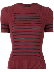 Jean Paul Gaultier Vintage 'Sailor' Ribbed T Shirt Red