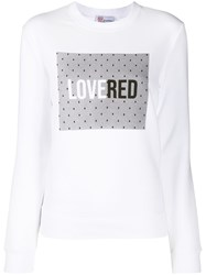 Red Valentino Redvalentino Lovered Print Crewneck Sweatshirt 60