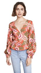 Finders Keepers Finderskeepers Songbird Top Bronze Floral