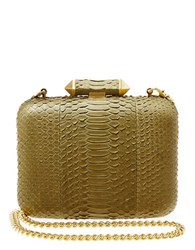 Brian Atwood Leather Minaudiere Moss