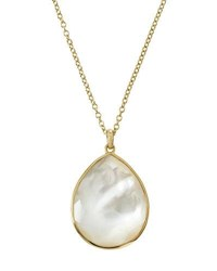 Ippolita 18K Rock Candy Gelato Large Teardrop Pendant Necklace In Mother Of Pearl Doublet White