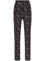 Figue Alexa Star Print Trousers Black