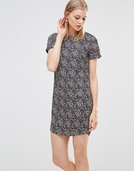 Poppy Lux Zaria Leopard Print Tunic Dress Navy Pink White