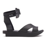 Melissa Vivienne Westwood For Women's Rocking Horse Flatform Sandals Black Matt