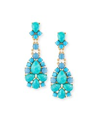 Sequin Turquoise And Agate Statement Earrings