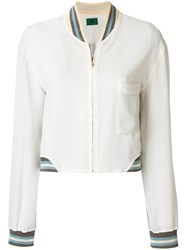 Jean Paul Gaultier Vintage Sheer Bomber Jacket Nude And Neutrals