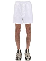 Rick Owens Drkshdw Cotton Jersey Boxer Shorts Chalk White