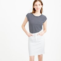 J.Crew Ballet Cap Sleeve T Shirt In Stripe