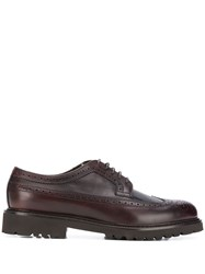 Doucal's Leather Derby Shoes Brown
