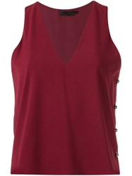 Giuliana Romanno Sleeveless Blouse Metallic