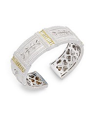 Judith Ripka Estate Cubic Zirconia White Sapphire And Sterling Silver Bracelet Gold