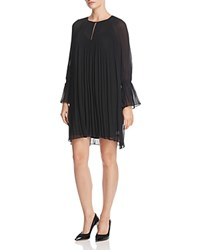Ella Moss Pleated Mini Dress Black