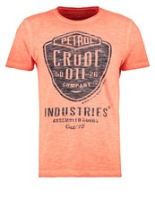 Petrol Industries Print Tshirt Dark Orange