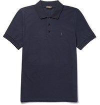 Berluti Cotton Pique Polo Shirt Navy