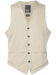 Denham Jeans Denham Five Button Vest Nude And Neutrals