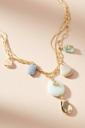 Anthropologie Mira Layered Pendant Necklace Gold