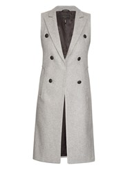 Rag And Bone Faye Double Breasted Wool Blend Vest