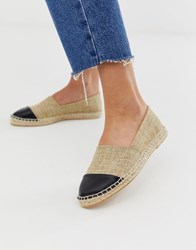 London Rebel Toe Cap Espadrilles Beige