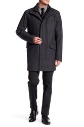 Andrew Marc New York Standford Wool Blend Coat Gray