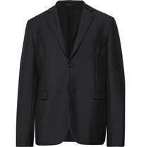 Acne Studios Black Antibes Unstructured Wool And Mohair Blend Blazer Black