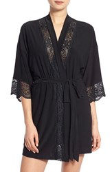 Women's In Bloom By Jonquil Lace Trim Robe