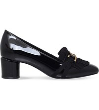 Kurt Geiger Magic Patent Leather Loafers Black