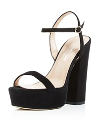 Charles David Retro Platform High Heel Sandals Black