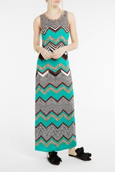 Missoni Women S Knitted Sleeveless Maxi Dress Boutique1 Green