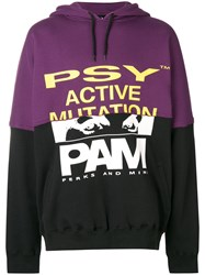 P.A.M. Perks And Mini Pam Printed Hoodie Pink And Purple
