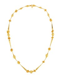 Jose And Maria Barrera Long Golden Beaded Necklace Women's