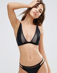 Evil Twin Black Mesh Triangle Bikini Top Black