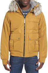Men's Bench 'Sizzle' Hooded Bomber Jacket With Faux Fur Trim