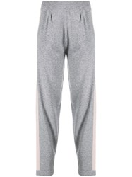 D.Exterior Micro Beaded Trackpants Grey