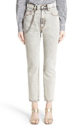 Marc Jacobs Women's Overdyed Bleach Stovepipe Jeans Ecru